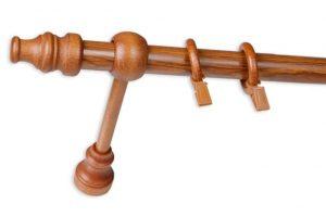 Drewniane karnisze pojedyncze